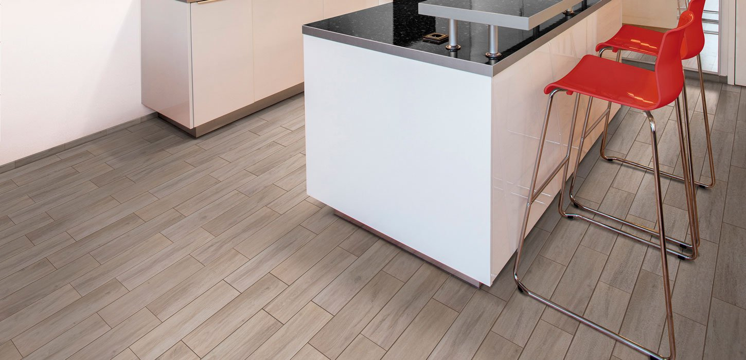 visual ceramic wood tile with six