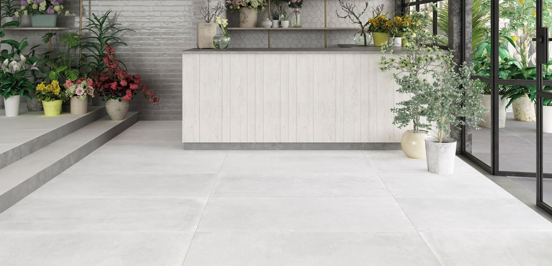 concrete effect stoneware tiles
