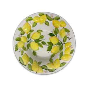 Insalatiera Limoni 40 cm   Ceramica Assunta Positano