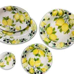 Set Misto Ceramiche Limoni e Olive
