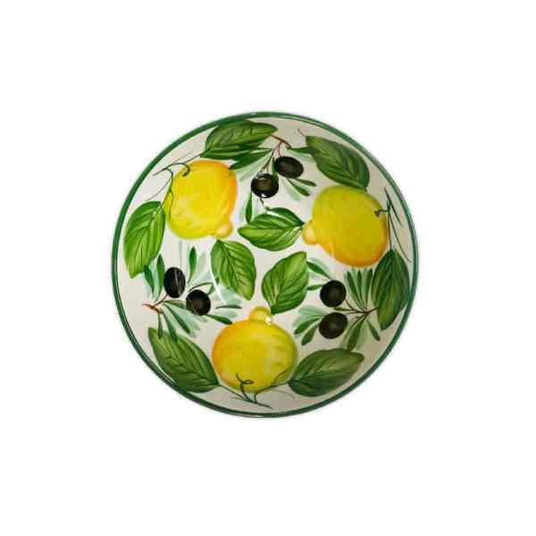 Insalatiera Limoni e Olive 22x10 cm