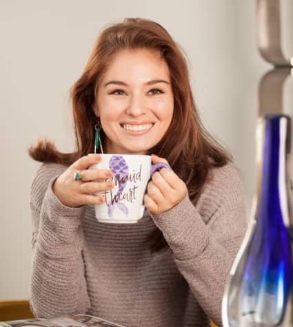 Ceramic reusable coffee mug