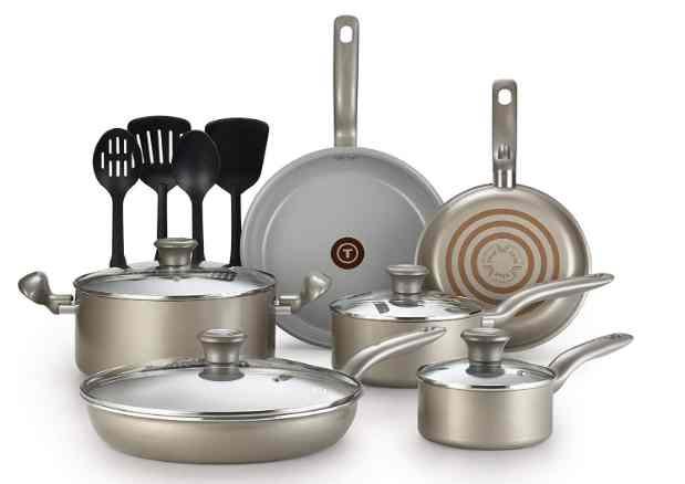 T-fal G919SE64 initiatives ceramic non-stick toxic free cookware set