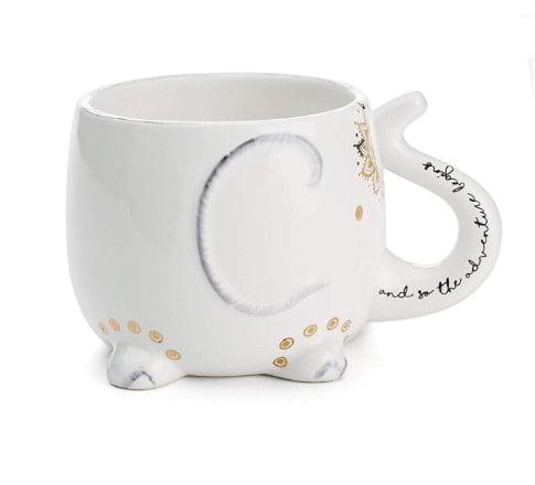 Tri-coastal design elephant coffee mug