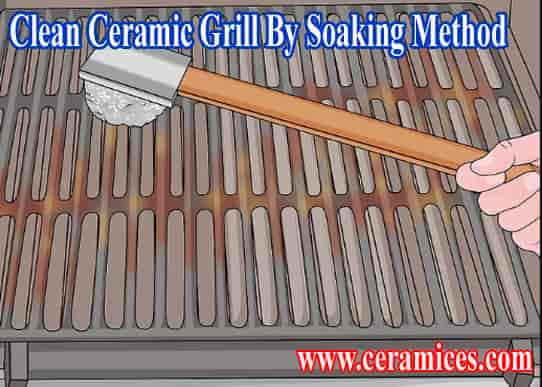 clean grill grates by soaking method