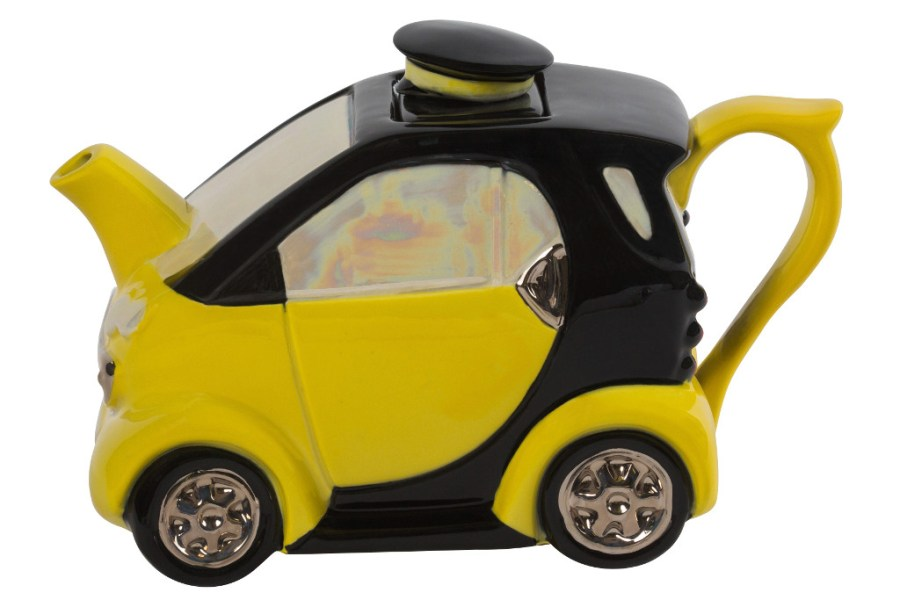 Smart Car Medium Teapot Yellow   Ceramic Inspirations Placeholder