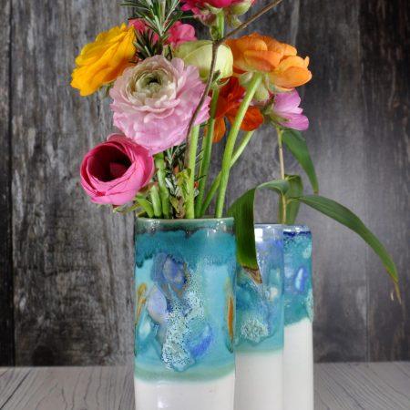 Ocean windowsill vases