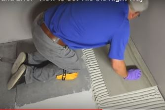 how to correctly trowel mortar when