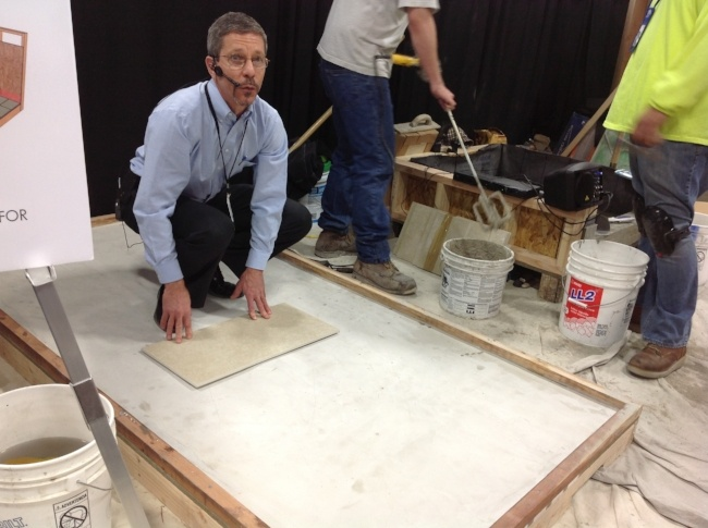 tile training and installation