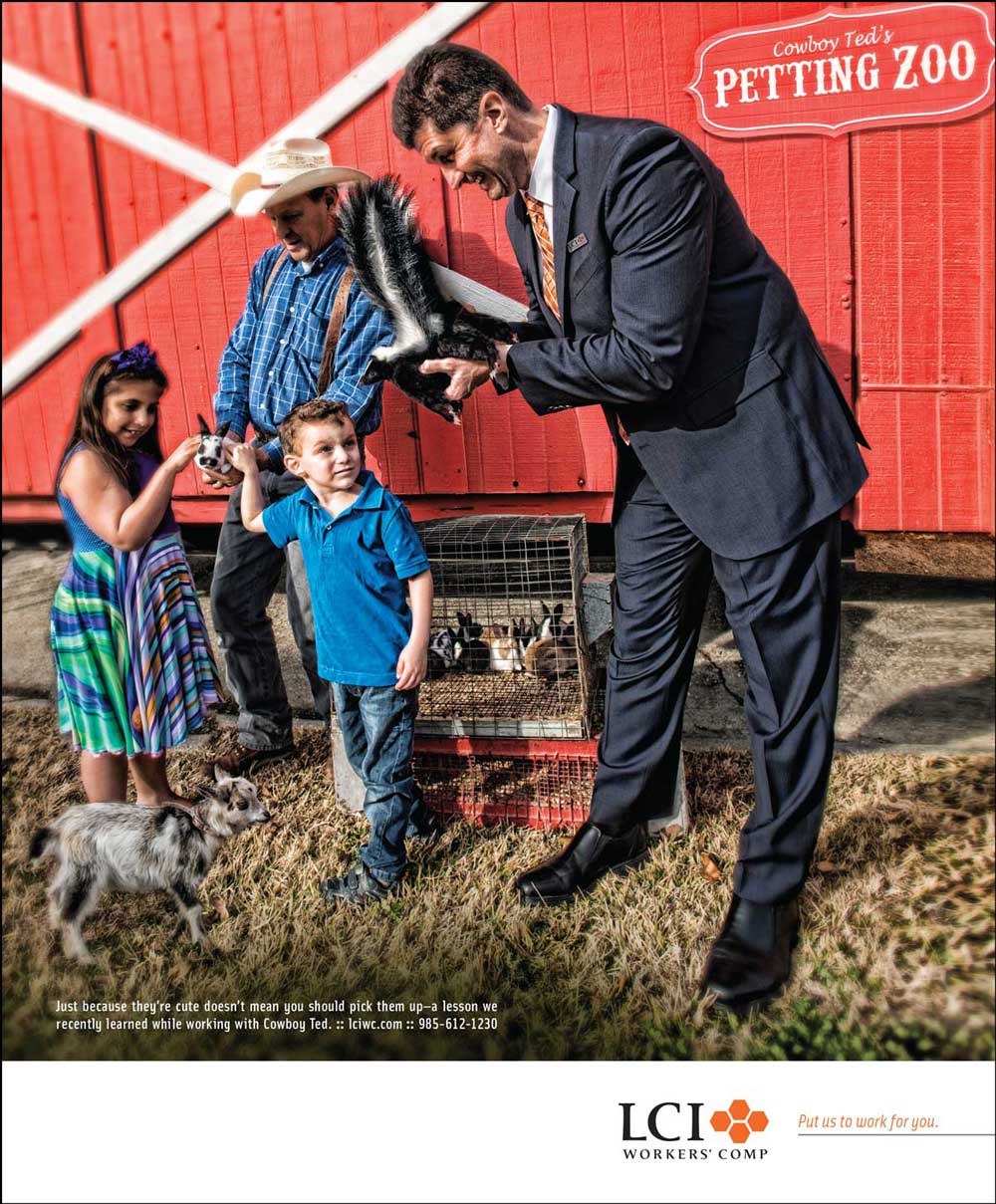 LCI Petting Zoo Ad Put Us To Work For You campaign