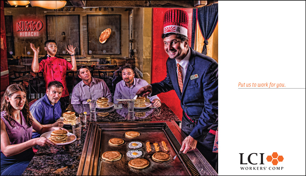 LCI Hibachi Ad Put Us To Work For You campaign