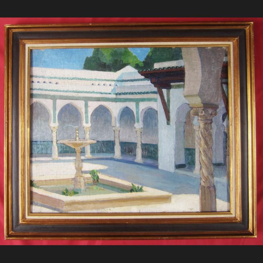 mathilde arbey le patio de la villa abd el tif a alger tableau galerie cerca trova tableaux dessins et estampes du xixeme et du xxeme siecle