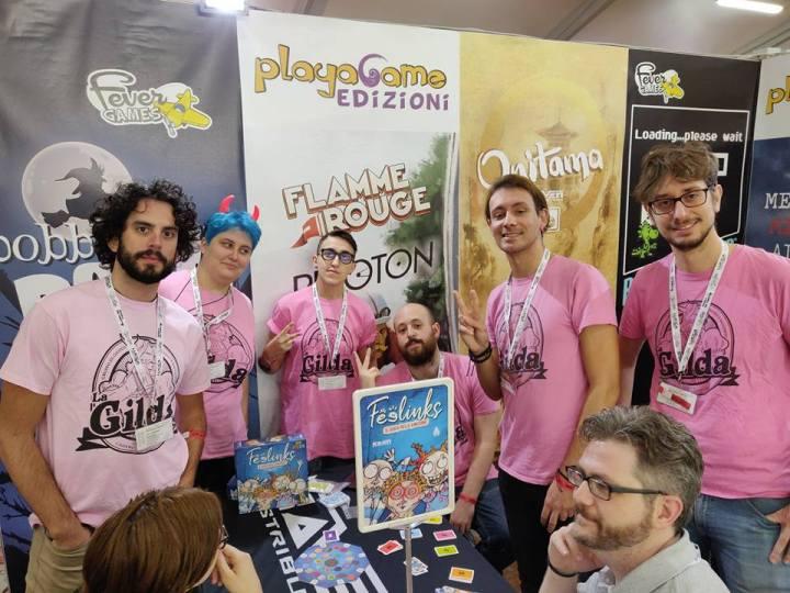 I ragazz* de La Gilda al Lucca Comics & Games di quest'anno. Fonte.