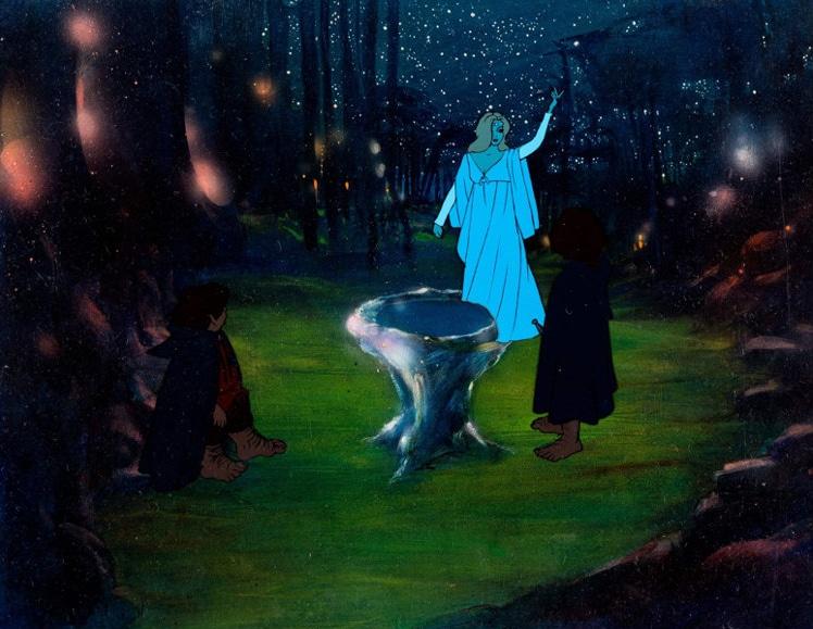 Galadriel, Frodo e Sam davanti allo Specchio