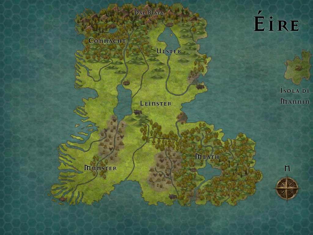 Éire, l'isola verde degli Gnomi e partenza della storia de Il libro delle invasioni.