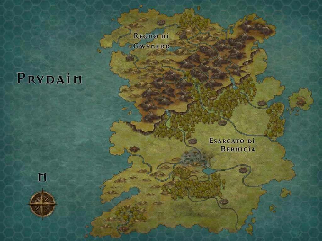 Prydain, l'isola che a Nord ha solo fosche brughiere e in cui a Sud la civiltà sta poco a poco divorando i boschi