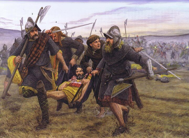 I mercenari scozzesi in Irlanda, immagine di Sean O'Brogain, dal sito Zhistorica