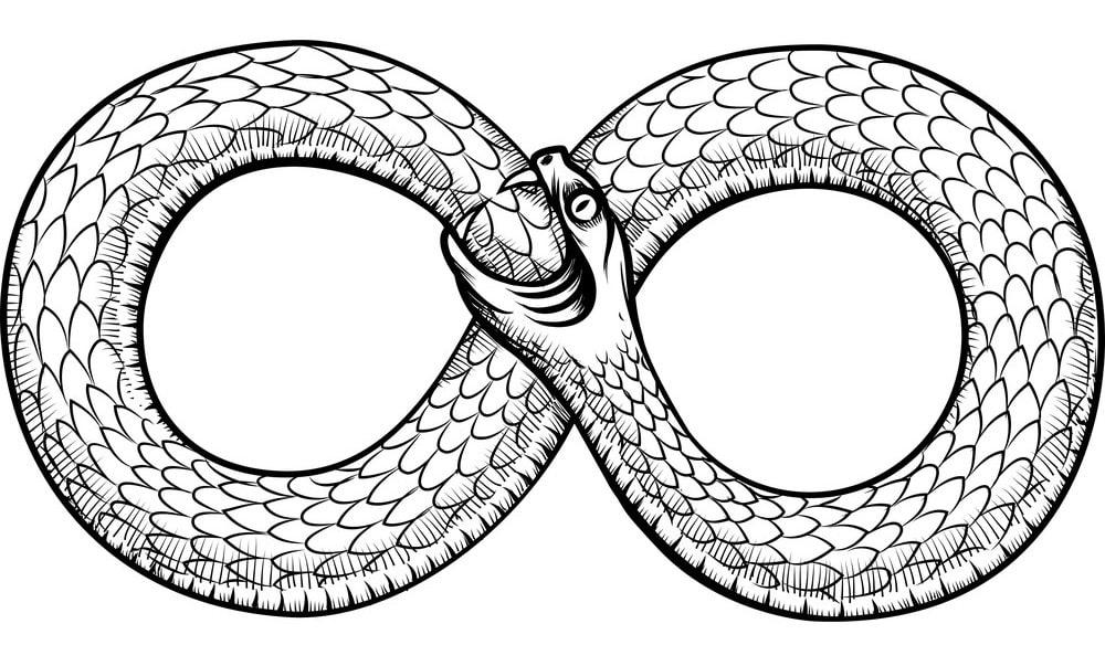 Immagine del serpente Ouroboros