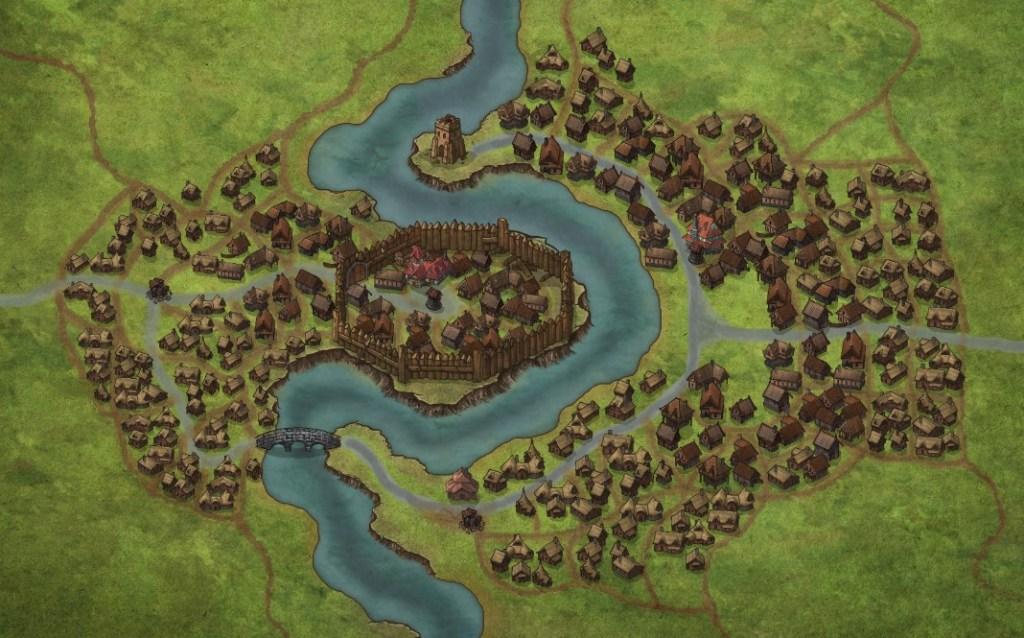 Il nostro villaggio con solo Town 1 e Village!