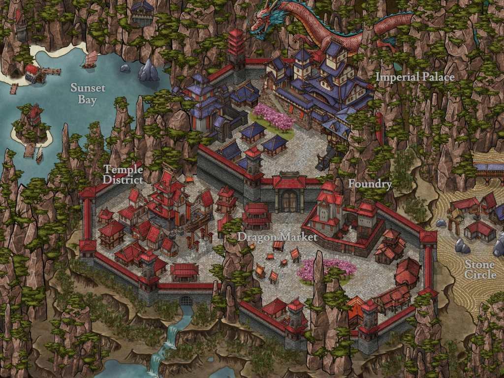 Mappa con la patch mappe orientali creata da 7Legionarmy (Mati)