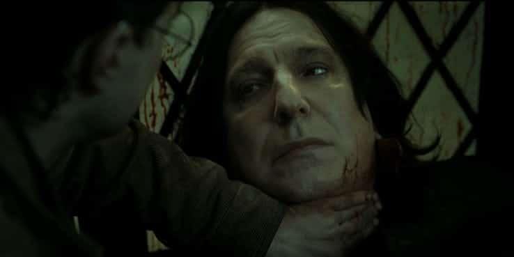 Poi Piton muore male in questo modo e noialtri piangiamo tantissimo e siamo pronti a perdonargli tutto