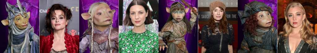 Un'altra carrellata di burattini Gelflin e i loro doppiatori nella serie tv The Dark Crystal
