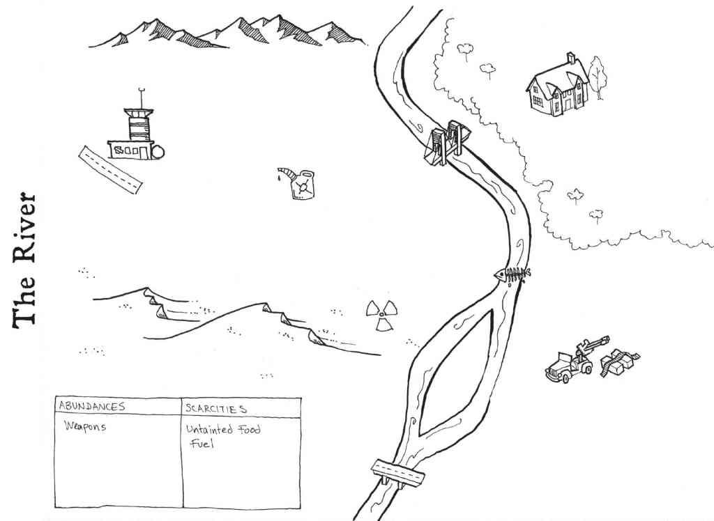una mappa disegnata per a quiet year