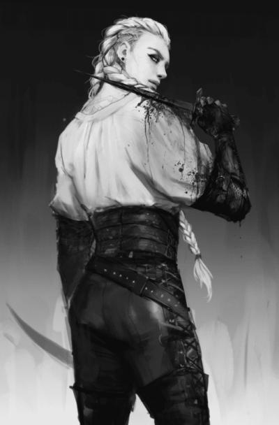 Ashlinn, uno dei miei personaggi preferiti di Nevernight, illustrato da Banished-shadow