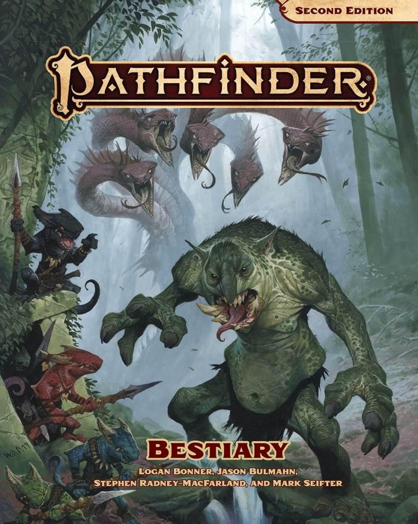 Copertina del Bestiario di Pathfinder Seconda Edizione, ovviamente illustrata da Wayne Reynolds