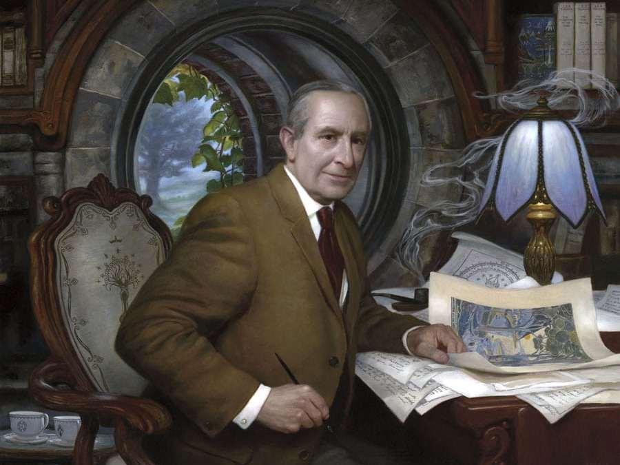 John Ronald Reuel Tolkien illustrato dall'artista Donato Giancola