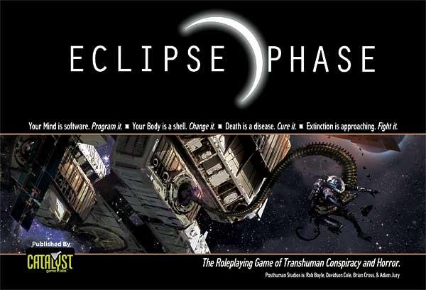 Copertina di Eclipse Phase, di cui si parla in Fuori dal Dungeon
