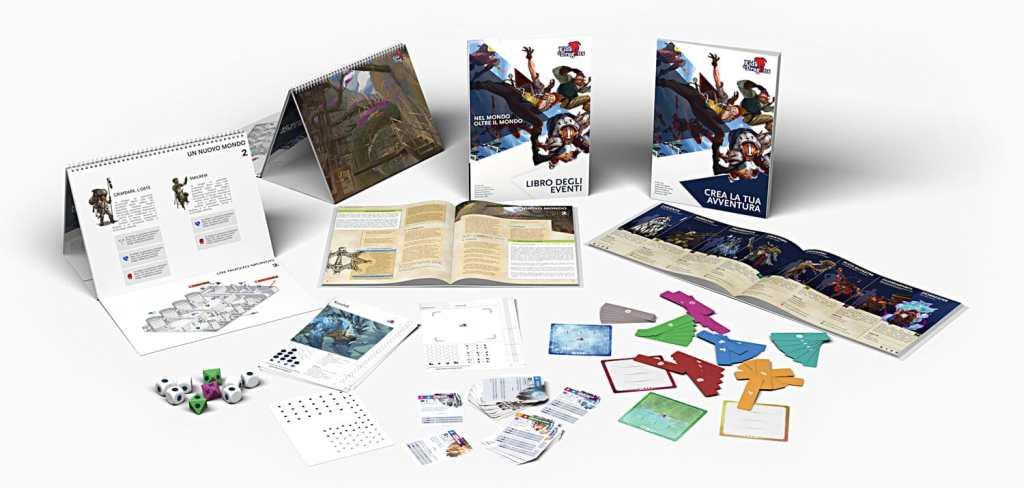 I materiali di Kids & Dragons, dal Libro delle Mappe al Libro degli Eventi, fino ai Token Azione