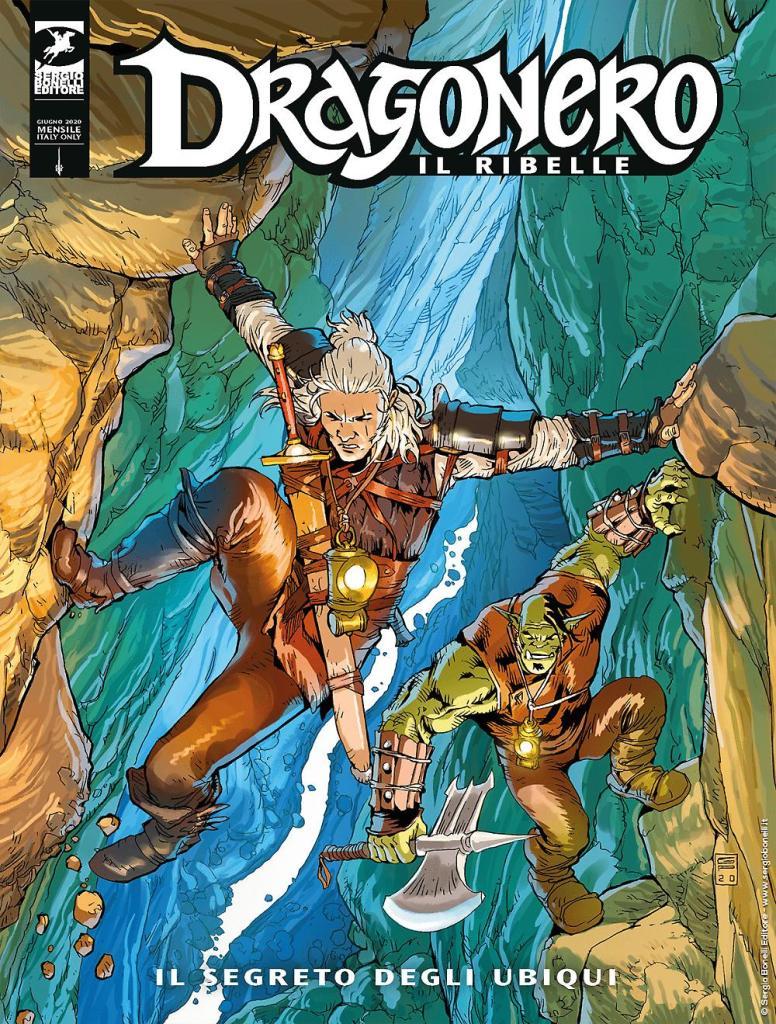 """Copertina dell'albo numero 8 di """"Dragonero, il Ribelle"""": Il segreto degli Ubiqui"""