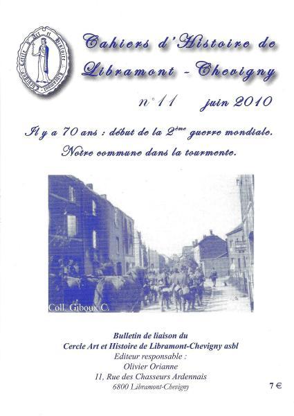 Cahier d'histoire de Libramont n°11 - Juin 2010