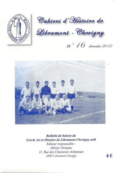 Cahier d'histoire de Libramont n°16 -Décembre 2012