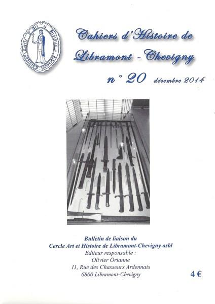 Cahier d'histoire de Libramont n°20 -Décembre 2014