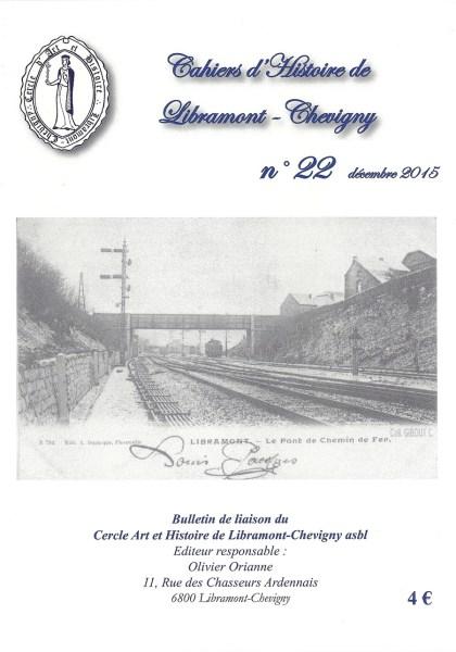 Cahier d'histoire de Libramont n°22 -Décembre 2015