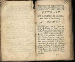 Coutumes Générales des Pays Duché de Luxembourg pages 2 - 3