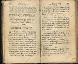 Coutumes Générales des Pays Duché de Luxembourg pages 32 - 33