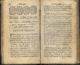 Coutumes Générales des Pays Duché de Luxembourg pages 50 - 51
