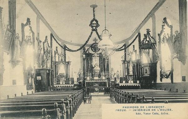 Freux - Eglise - intérieur - Collection Christian Giboux
