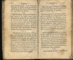 Coutumes Générales des Pays Duché de Luxembourg pages 102 - 103