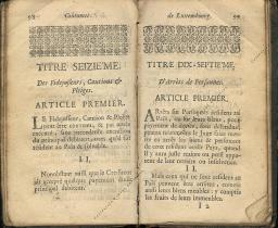 Coutumes Générales des Pays Duché de Luxembourg pages 98 - 99