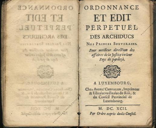 Ordonnance et Edit perpétuel des Archiducs pages 0 - 1