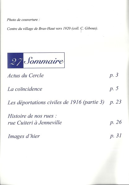 Bulletin de liaison - N°27