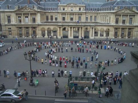 Cercle de silence Paris Conseil d'Etat