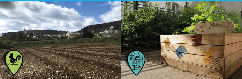 Jardinage collectif micro ferme urbaine ou au centre ville de Dijon