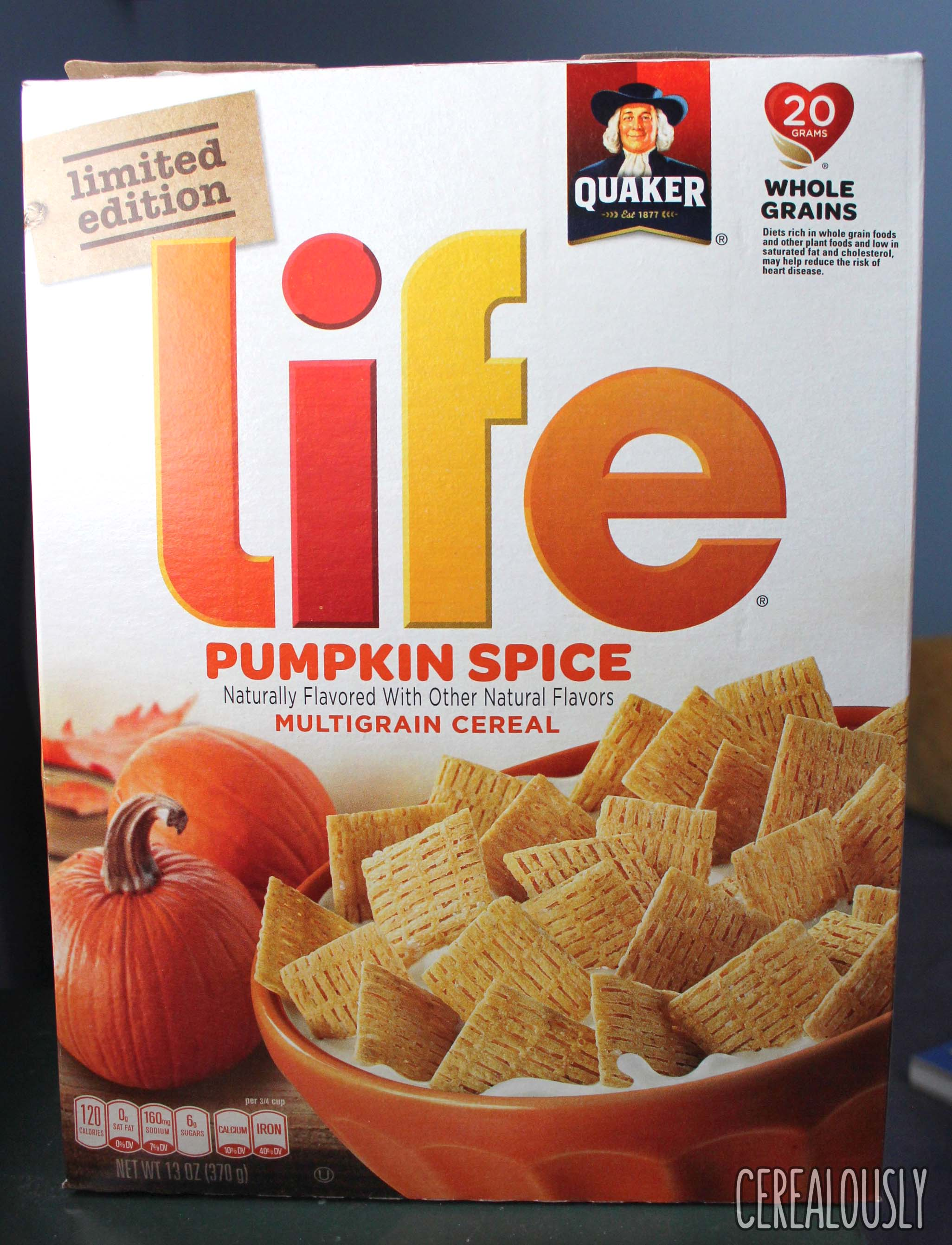 Review Quaker Limited Edition Pumpkin Spice Life Cereal