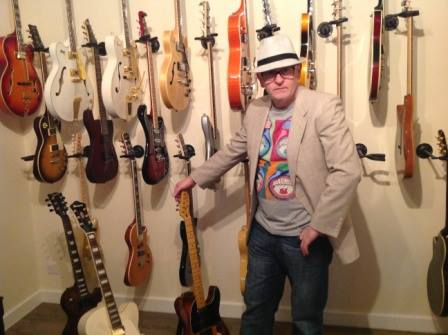 Cousin Silas with a few of his guitars.