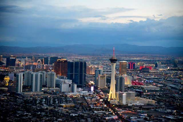 Vegas Wedding Pacakges includes Helicopter-Flight-and-Ceremony-over-the-Las-Vegas-Strip-aerial-view